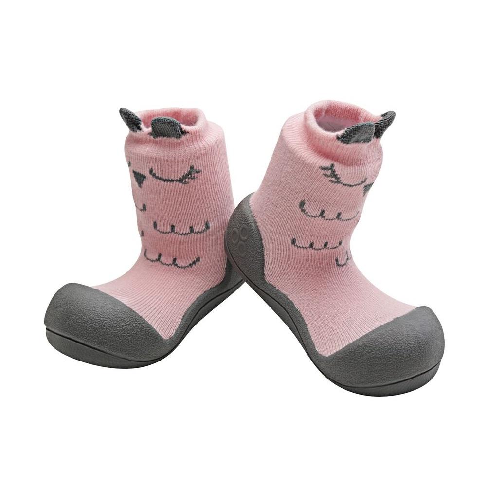 ATTIPAS POLKA DOT RED ergonomical crib shoes slip proof boots infant toddler